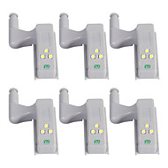 YWXLIGHT® 6pcs LED Night Light Cold White Other Battery Powered Wardrobe Cupboard Auto Switch Home Security Decoration