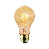 Χαμηλού Κόστους -1pc 40 W E26/E27 A60(A19) κ Λαμπτήρας πυρακτώσεως Vintage Edison AC 220-240V V