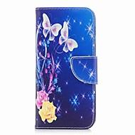 Недорогие Чехлы и кейсы для Galaxy А-Кейс для Назначение SSamsung Galaxy A8 2018 A8 Plus 2018 Бумажник для карт Кошелек со стендом С узором Чехол Бабочка Твердый Кожа PU для