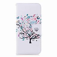 Недорогие Чехлы и кейсы для Galaxy S7-Кейс для Назначение SSamsung Galaxy S9 S9 Plus Бумажник для карт Кошелек со стендом С узором Чехол дерево Твердый Кожа PU для S9 Plus S9