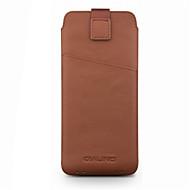 お買い得  携帯電話ケース-ケース 用途 Huawei P10 Lite P11 カードホルダー 耐衝撃 ポーチ 純色 ソフト 本革 のために Huawei G9 Plus