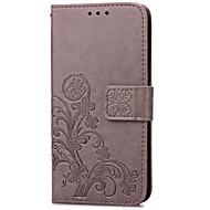Недорогие Чехлы и кейсы для Galaxy S7 Edge-Кейс для Назначение SSamsung Galaxy S7 edge / S7 Бумажник для карт / со стендом / Флип Чехол Цветы Твердый Кожа PU для S7 edge / S7