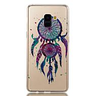 Недорогие Чехлы и кейсы для Galaxy A3(2017)-Кейс для Назначение SSamsung Galaxy A8 2018 A8 Plus 2018 IMD С узором Кейс на заднюю панель Сияние и блеск Ловец снов Мягкий ТПУ для A3