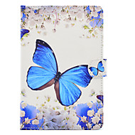 cheap iPad  Cases / Covers-Case For Apple iPad Air 2 iPad 10.5 Card Holder Shockproof with Stand Flip Auto Sleep/Wake Up Full Body Cases Butterfly Hard PU Leather
