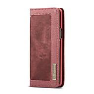 Недорогие Чехлы и кейсы для Galaxy S9-Кейс для Назначение SSamsung Galaxy S9 Бумажник для карт Кошелек Флип Чехол Однотонный Твердый текстильный для S9