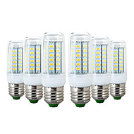 お買い得  LED コーン型電球-ywxlight®6pcs e27 56led 6w 5730sm 600-700lm ledコーンライト暖かい白いクールな白電球電球ac 110-130v ac 220-240v