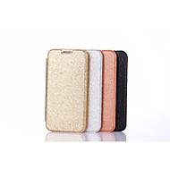 Недорогие Чехлы и кейсы для Galaxy S7 Edge-Кейс для Назначение SSamsung Galaxy S7 edge S7 Бумажник для карт Флип Чехол Сплошной цвет Сияние и блеск Твердый Кожа PU для S7 edge S7