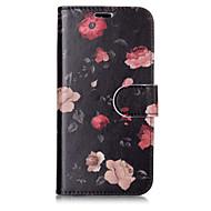 Недорогие Кейсы для iPhone 8 Plus-Кейс для Назначение Apple iPhone X iPhone 8 Plus Бумажник для карт Кошелек со стендом Флип С узором Чехол Цветы Твердый Кожа PU для