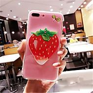 Недорогие Кейсы для iPhone 8 Plus-Кейс для Назначение Apple iPhone 6s iPhone 7 Plus Зеркальная поверхность С узором Кейс на заднюю панель Мультипликация Твердый ПК для