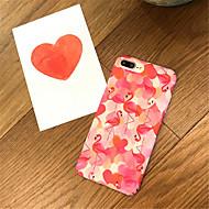 Недорогие Кейсы для iPhone 8 Plus-Кейс для Назначение Apple iPhone X / iPhone 7 Plus С узором Кейс на заднюю панель Фламинго Твердый Акрил для iPhone X / iPhone 8 Pluss /