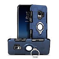 Недорогие Чехлы и кейсы для Galaxy S-Кейс для Назначение SSamsung Galaxy S9 Защита от удара / Кольца-держатели / Поворот на 360° Кейс на заднюю панель Сплошной цвет Твердый ПК для S9