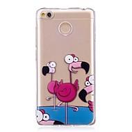 お買い得  携帯電話ケース-ケース 用途 Xiaomi Redmi 4X IMD パターン バックカバー フラミンゴ ソフト TPU のために Xiaomi Redmi 4X