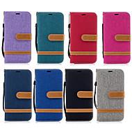 Недорогие Чехлы и кейсы для Galaxy A3(2016)-Кейс для Назначение SSamsung Galaxy A8 2018 A8 Plus 2018 Бумажник для карт Кошелек со стендом Флип Чехол Сплошной цвет Твердый Кожа PU для