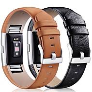 Недорогие Аксессуары для смарт-часов-Ремешок для часов для Fitbit Charge 2 Fitbit Классическая застежка Кожа Повязка на запястье