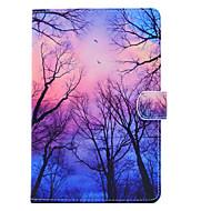 Недорогие Чехлы и кейсы для Samsung Tab-Кейс для Назначение SSamsung Galaxy Tab A 7.0 (2016) Бумажник для карт Защита от удара со стендом Флип Чехол дерево Твердый Кожа PU для