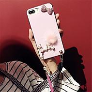 Кейс для Назначение Apple iPhone 6 Plus iPhone 7 Plus С узором Кейс на заднюю панель Сплошной цвет Мягкий Силикон для iPhone 8 Pluss