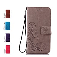 cheap Galaxy J Series Cases / Covers-Case For Samsung Galaxy J7 (2017) J7(2016) Card Holder Wallet Flip Full Body Cases Flower Hard Genuine Leather for J7 (2017) J7 (2016) J7