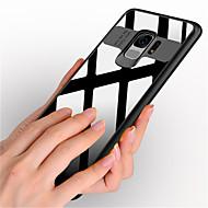 Недорогие Чехлы и кейсы для Galaxy S9-Кейс для Назначение SSamsung Galaxy S9 S9 Plus Защита от удара Зеркальная поверхность Кейс на заднюю панель Сплошной цвет Твердый ПК для