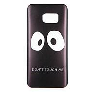 Недорогие Чехлы и кейсы для Galaxy S8-Кейс для Назначение SSamsung Galaxy S8 Plus S8 С узором Кейс на заднюю панель Слова / выражения Мультипликация Мягкий ТПУ для S8 Plus S8