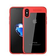 Недорогие Кейсы для iPhone 8 Plus-Кейс для Назначение Apple iPhone X iPhone 8 Зеркальная поверхность Прозрачный Кейс на заднюю панель Сплошной цвет Мягкий Силикон для