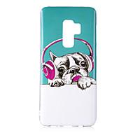 Недорогие Чехлы и кейсы для Galaxy S9-Кейс для Назначение SSamsung Galaxy S9 S9 Plus Сияние в темноте IMD С узором Кейс на заднюю панель С собакой Блеск Мягкий ТПУ для S9 Plus