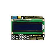 お買い得  -keyestudio 1602lcd arduino lcdディスプレイ用キーパッドシールドatmega2560ラズベリーパイ用unoブルースクリーンブラックライトモジュール