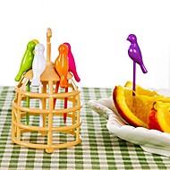 voordelige -Muovi Normale Schattig Plantaardige vork Cake vork Vorken, Hoge kwaliteit 1pc