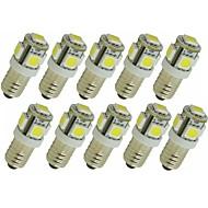 billiga -SENCART 10pcs 1.5 W LED-lampor med G-sockel 90 lm G4 E11 T 5 LED-pärlor SMD 5050 Dekorativ Varmvit Vit Röd 12 V