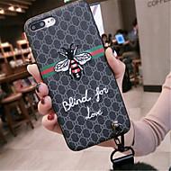 Недорогие Кейсы для iPhone 8 Plus-Кейс для Назначение Apple iPhone X iPhone 7 Plus С узором Кейс на заднюю панель Слова / выражения Мягкий ТПУ для iPhone X iPhone 8 Pluss