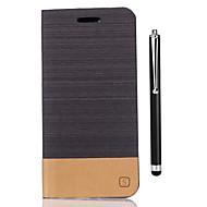 preiswerte Handyhüllen-Hülle Für Huawei Honor 8 Kreditkartenfächer Geldbeutel mit Halterung Flipbare Hülle Ganzkörper-Gehäuse Volltonfarbe Hart PU-Leder für