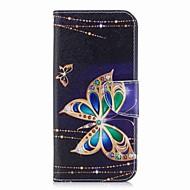 Недорогие Чехлы и кейсы для Galaxy S7-Кейс для Назначение SSamsung Galaxy S9 S9 Plus Бумажник для карт Кошелек со стендом С узором Чехол Бабочка Твердый Кожа PU для S9 Plus S9