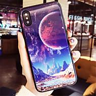 Кейс для Назначение Apple iPhone X iPhone 7 Plus С узором Кейс на заднюю панель Пейзаж Твердый Закаленное стекло для iPhone X iPhone 8