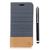 お買い得  携帯電話ケース-ケース 用途 LG G6 カードホルダー ウォレット スタンド付き フリップ フルボディーケース 純色 ハード PUレザー のために LG G6 LG G5 LG G4