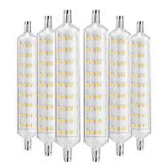 abordables Bombillas LED de Mazorca-YWXLIGHT® 6pcs 12W 1000-1200lm R7S Bombillas LED de Mazorca 108 Cuentas LED SMD 2835 Decorativa Blanco Cálido 220-240V