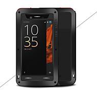 お買い得  携帯電話ケース-ケース 用途 Sony Xperia XZ 水/汚れ/ショックプルーフ フルボディーケース 純色 ハード メタル のために Sony Xperia XZ