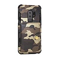 Недорогие Чехлы и кейсы для Galaxy S8 Plus-Кейс для Назначение SSamsung Galaxy S9 Plus / S8 Plus Кошелек / Магнитный Кейс на заднюю панель Камуфляж Твердый Кожа PU для S9 / S9 Plus / S8 Plus