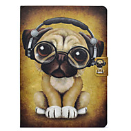 cheap iPad  Cases / Covers-Case For Apple iPad 10.5 iPad Pro 9.7 Card Holder with Stand Flip Pattern Full Body Cases Dog Hard PU Leather for iPad Mini 4 iPad Mini