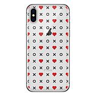 Недорогие Кейсы для iPhone 8 Plus-Кейс для Назначение Apple iPhone X iPhone 8 Plus С узором Кейс на заднюю панель Плитка Слова / выражения С сердцем Мягкий ТПУ для iPhone