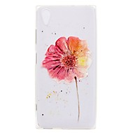 preiswerte Handyhüllen-Hülle Für Sony Xperia XA2 Ultra / Xperia L2 Transparent / Muster Rückseite Blume Weich TPU für Xperia XA2 Ultra / Xperia XA2 / Xperia XZ1 Compact