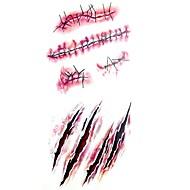 abordables Tatuajes Temporales-1 pcs Tatuajes Adhesivos Los tatuajes temporales Series de Tótem Impermeable Artes de cuerpo Cuerpo / brazo / hombro