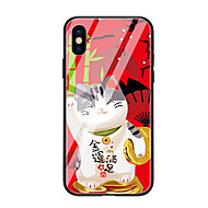 cheap -Case For Apple iPhone X iPhone 8 Pattern Back Cover Cat Hard Tempered Glass for iPhone X iPhone 8 Plus iPhone 8 iPhone 7 iPhone 6s Plus