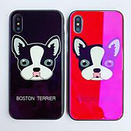 Недорогие Кейсы для iPhone 8-Кейс для Назначение Apple iPhone X iPhone 8 Защита от удара С узором Кейс на заднюю панель С собакой Мультипликация Твердый Закаленное