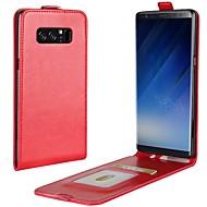 Недорогие Чехлы и кейсы для Galaxy Note 8-Кейс для Назначение SSamsung Galaxy Note 8 Бумажник для карт Флип Чехол Однотонный Твердый Кожа PU для Note 8