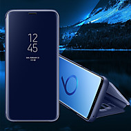 Недорогие Чехлы и кейсы для Galaxy S6 Edge Plus-Кейс для Назначение SSamsung Galaxy S8 Plus S8 со стендом Зеркальная поверхность Флип Авто Режим сна / Пробуждение Чехол Сплошной цвет