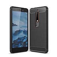 お買い得  携帯電話ケース-ケース 用途 Nokia Nokia 6 2018 つや消し バックカバー ソリッド ソフト TPU のために Nokia 6 2018