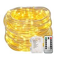 economico Strisce LED-10m Fili luminosi Set luci 100 LED Bianco caldo Bianco Impermeabile Decorativo Batterie alimentate 1set