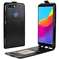 お買い得  携帯電話ケース-ケース 用途 Huawei Y9 (2018)(Enjoy 8 Plus) Y7 Prime (2018) カードホルダー フリップ フルボディーケース ソリッド ハード PUレザー のために Y9 (2018)(Enjoy 8 Plus) Y7 Prime (2018)