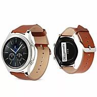 Недорогие Аксессуары для смарт-часов-Ремешок для часов для Gear S3 Frontier Samsung Galaxy Современная застежка Натуральная кожа Повязка на запястье