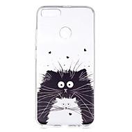 お買い得  携帯電話ケース-ケース 用途 Xiaomi Mi 5X パターン バックカバー 猫 ソフト TPU のために Xiaomi Mi 5X Xiaomi A1