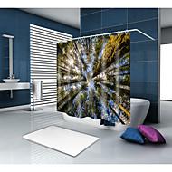 お買い得  浴室用小物-シャワーカーテン&フック カジュアル 田園風 ポリエステル 現代風 機械製 防水 浴室